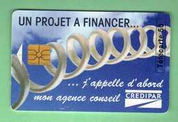 EN903 CREDIPAR *** Le Scan Represente La Carte En Vente *** Petite Deformation Au Dessus De La Puce *** (A5-P13) - France