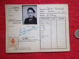 Scout Carte D'éclaireur 1950 - Scouting