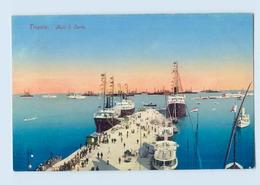 M097/ Trieste  Molo S. Carlo Hafen Dampfer AK 1914 - Italy