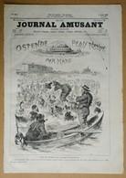 Le Journal Amusant N°1144 Du 3/08/1878 Ostende Peau Neuve Par Mars - Nos Marins à L'exposition Par Paul Léonnec - Journaux - Quotidiens