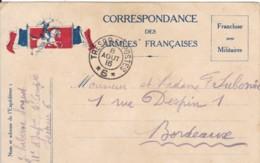 Correspondance Des Armées Françaises / Cachet Trésor Et Postes *6*. - Cartes De Franchise Militaire