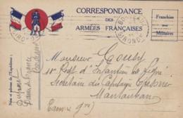 Correspondance Des Armées Françaises. - Cartes De Franchise Militaire