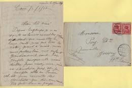Lettre Du Caire Pour Jussey Haute Saone - Courrier Evoquant Les Evenements - 1917 - Guerra De 1914-18