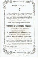 LIMAL - M.T. Comtesse D'ARGENTEAU D'OCHAIN - Vve M. D'OVERSCHIE De NEERISSCHE & J. VANDERLINDEN D'HOOGHVORST +1859 - Images Religieuses