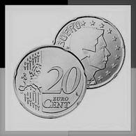 MONNAIE 20 Cent 2004 LUXEMBOURG  Euro Fautée Non Cuivrée Etat Superbe - Abarten Und Kuriositäten