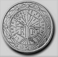 MONNAIE 1 EURO FRANCE 1999 Euro Fautée COULEUR ACIER - Variétés Et Curiosités