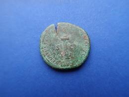 TRAJANUS   (98 -117) A.D.  -  AE AS   11,70 Gr.   -   ROME   114 AD - 3. Die Antoninische Dynastie (96 / 192)
