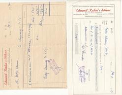 V1 - Zwei Rechnungen Ausgestellt 1957 - Autriche