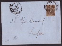 Toscana, 10 C. Governo Provvisorio Su Busta Del 1860      -CQ81 - Toscana