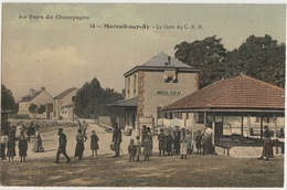 51 - MAREUIL SUR AY - LA GARE DU C.B.R. - Mareuil-sur-Ay