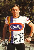 CARTE CYCLISME GUIDO VAN CALSTER TEAM C&A 1978 ( DECOUPE, FORMAT 10 X 14,7 ) - Radsport
