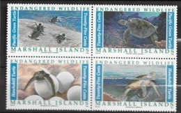 1990 MNH Marshal Mi 298-1, Postfris ** - Turtles