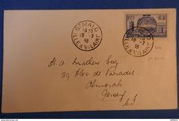 470 FRANC LETTRE 1938 ST MALO POUR ILE DE JERSEY + AFFRANCHISSEMENT PLAISANT - France