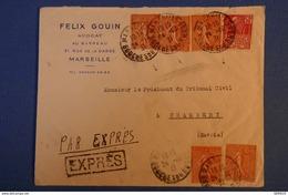 472 FRANCE BELLE LETTRE 1931 MARSEILLE POUR CHAMBERY EN EXPRESS - France