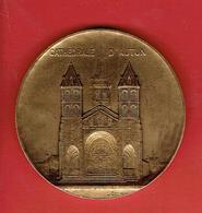 MEDAILLE CATHEDRALE SAINT LAZARE D AUTUN COMMENCEE EN 1120 ACHEVEE EN 1178 SAONE ET LOIRE GRAVEUR L. DESVIGNES - Toeristische