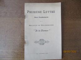 """CALAIS 1898 SOCIETE DE RECHERCHES """"DE LA CLARENCE"""" PREMIERE LETTRE AUX FONDATEURS LUDOVIC BRETON,AUGUSTE PETIT - Documents Historiques"""