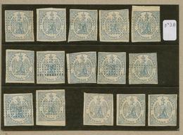 Lot De 15 Exemplaires Du Timbre Impérial De Dimension N°3 A - Fiscaux