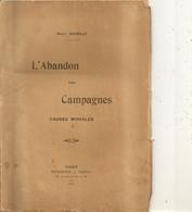 Livre L'abandon Des Campagnes  Causes Morales Par Henri Dazelle Imprimerie A Chiron Niort  32 Pages 1923 - Niort
