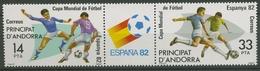 Andorra (span.) 1982 Fußball-WM Spanien 155/56 ZD Postfrisch (C90599) - Unused Stamps