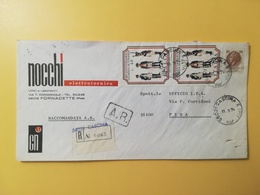 1974 BUSTA INTESTATA RACCOMANDATA  ITALIA ITALY BOLLO GUARDIA DI FINANZA ANNULLO OBLITERE' CASCINA - 6. 1946-.. Republik
