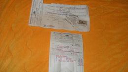 2 DOCUMENTS FACTURE + MANDAT ANCIEN DE 1926../ LES FILS DE B. DEPERY MAN. D'HORLOGERIE CLUSES HAUTE SAVOIE..TIMBRE FISCA - France