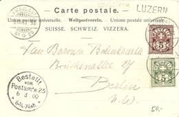 Schweiz,  5.3.1900, Postkarte Gotthard Express, Ambulant Luzern Berlin, Siehe Scans! - Covers & Documents