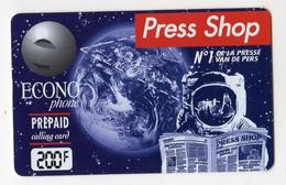 BELGIQUE Prépaid ECONOPHONE 200F ESPACE - Astronomia