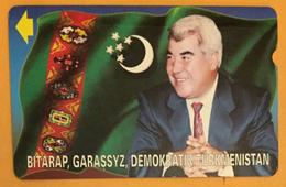 TUKMÉNISTAN TURKMEN TELEKOM CARTE TÉLÉPHONIQUE MAGNÉTIQUE PAS TÉLÉCARTE PHONECARD CARD - Turkmenistan