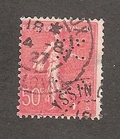 Perforé/perfin/lochung France No 199 CN Crédit Du Nord (271) - Gezähnt (Perforiert/Gezähnt)