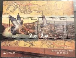Bosnia And Hercegovina, 2020,Europa Cept, Ancient Postal Routs, Block  (MNH) - Bosnia And Herzegovina