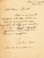 ** LUCCA.-.NOBIL DONNA RACHELE.-(MUSSOLINI).- XVII.-  ** - Manuscritos