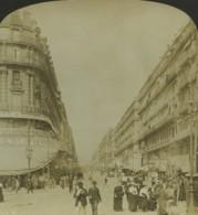 France Marseille Rue De La République Ancienne Photo Stereo Stereoscope White 1900 - Stereoscopic