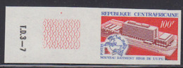 CENTRAL AFRICA (1970) New U.P.U. Building. Emblem. Imperforate. Yvert No 127, Scott No 125 - Central African Republic
