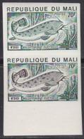 MALI (1975) Malopterurus Electrica. Trial Color Proof Pair. Scott No 235, Yvert No 237. - Mali (1959-...)