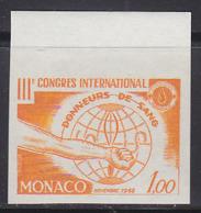 MONACO (1962) Blood Donors. Trial Color Proof. Scott No 510. Yvert No 598. - Monaco
