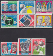 PARAGUAY (1969) Events Of 1968. Set Of 9 Overprinted MUESTRA. Scott Nos 1126,1134. - Paraguay