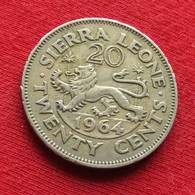 Sierra Leone 20 Cents 1964 KM# 20 Serra Leoa Sierra Leona - Sierra Leone