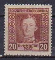 BOSNIA EZERGOVINA   1917 EFFIGE DI CARLO I° YVERT. 126 MNH XF - Bosnie-Herzegovine