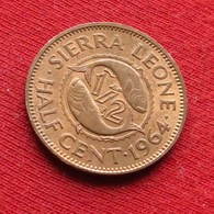 Sierra Leone 1/2 Half Cent 1964 KM# 16 Serra Leoa Sierra Leona - Sierra Leone