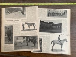 1903 GA HIPPISME ENTRAINEMENT D UN CRACK WILLIAM WEBB BARON DE SCHICKLER A CHANTILLY - Verzamelingen