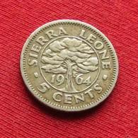 Sierra Leone 5 Cents 1964 KM# 18 Serra Leoa Sierra Leona - Sierra Leone