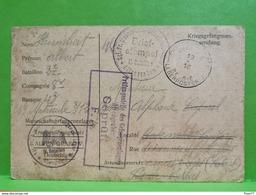 Carte Postale, Prisonnier De Guerre 1914, Altengrabow 1916. Albert Hubert 2e Bataillon, 8e Compagnie Dornitz - 1914-18