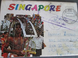 SINGAPORE, CARNET 7 DUPLEX POSTCARDS - Singapur