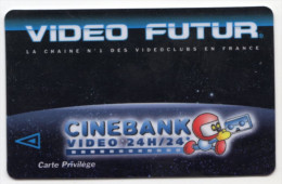 FRANCE CARTE VIDEO FUTUR RARE CARTE PRIVILEGE - Frankreich