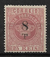 Portuguese India – 1881 Crown Type Surcharged - India Portoghese