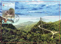 30P: CM,Carte Maximum Card,Malaysia Langkawi Curve Sky Bridge At 700m Above Sea Level, Maxi Card, MC - Bridges