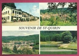 57. Saint-Quirin. Souvenir De St. Quirin. Vues Multiples. Café Des Vosges. 1987 - France