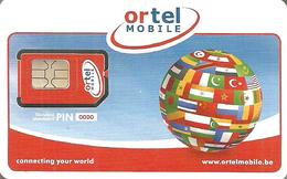 ORANGE * ORTEL * GSM * MOBILE * SIM CARD * FLAG * Orange 01 * Belgium - Belgique