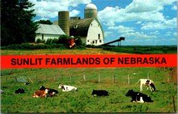 Nebraska Greetings With Sunlit Farmlands - Autres