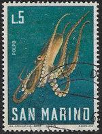San Marino SG808 1966 Sea Life 5l Good/fine Used [1/0595/7D] - Oblitérés